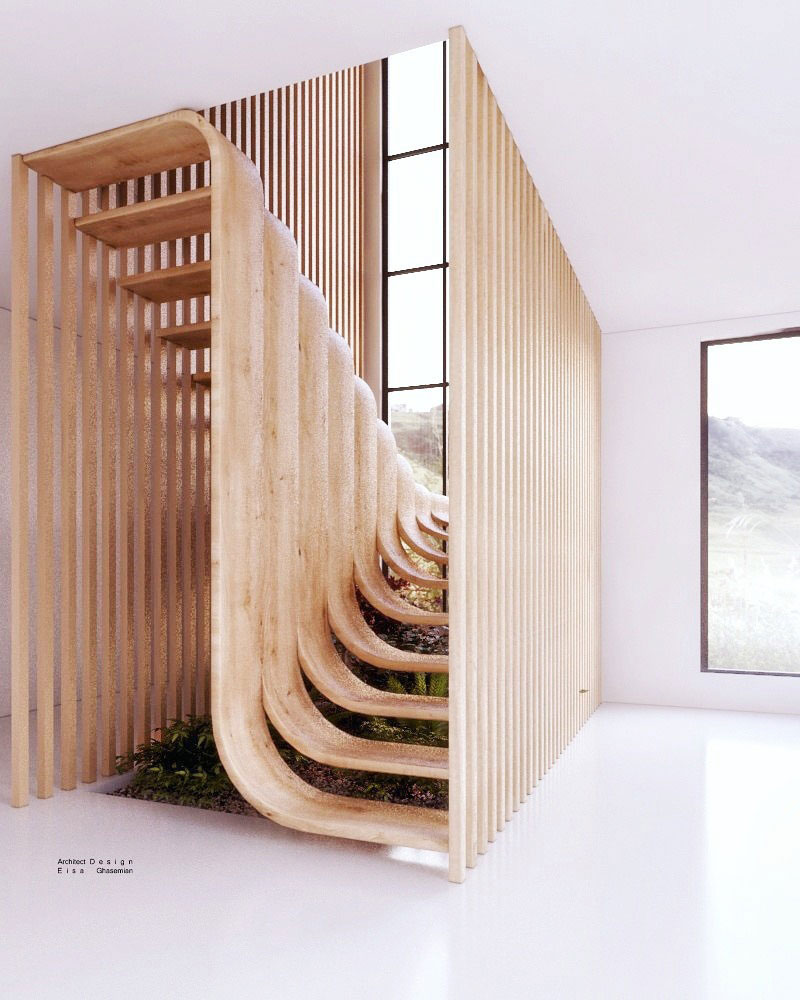 duplex stairs designed by eisa ghasemian 1 These Floating Duplex Stairs by Eisa Ghasemian are Stunning