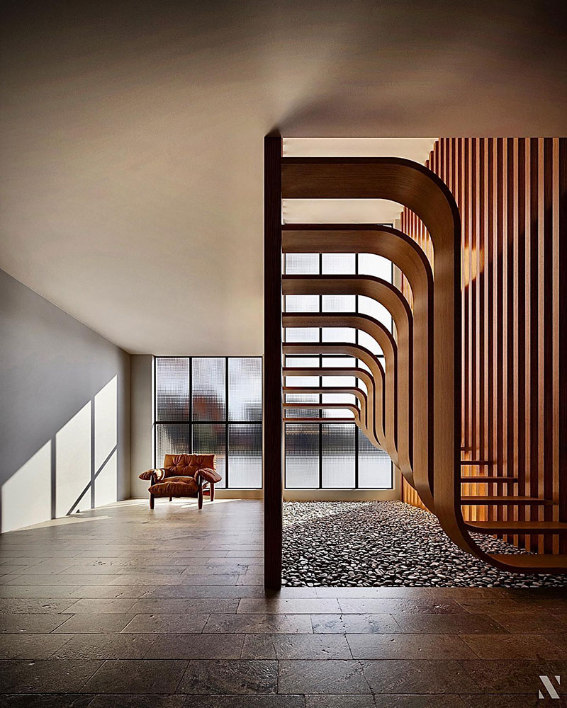 duplex stairs designed by eisa ghasemian 5 These Floating Duplex Stairs by Eisa Ghasemian are Stunning
