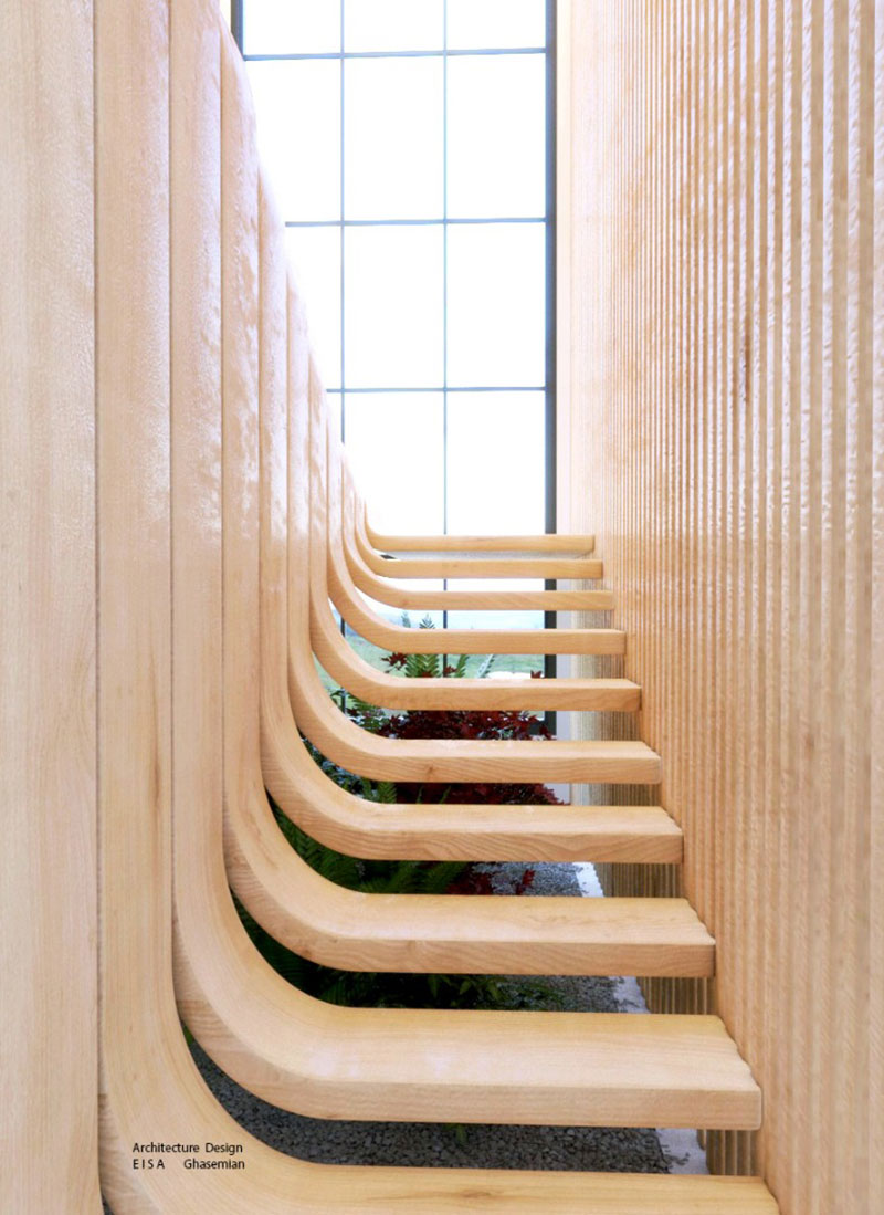 duplex stairs designed by eisa ghasemian 6 These Floating Duplex Stairs by Eisa Ghasemian are Stunning