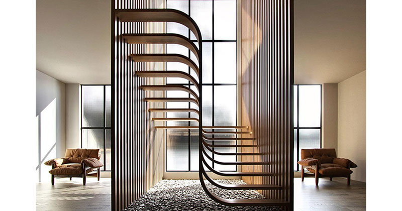 These Floating 'Duplex Stairs' by Eisa Ghasemian are Stunning