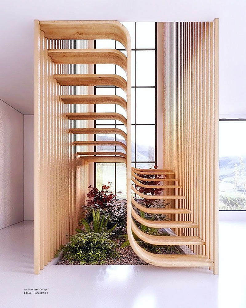 duplex stairs designed by eisa ghasemian 8 These Floating Duplex Stairs by Eisa Ghasemian are Stunning