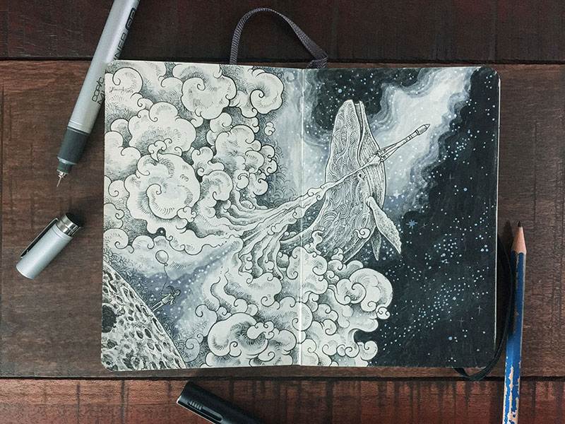 kerby rosanes sketchbook illustrations 11 Kerby Rosanes Sketchbooks are Beautiful Works of Art Unto Themselves