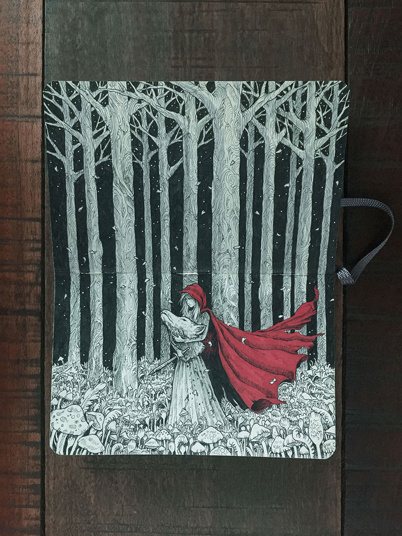 kerby rosanes sketchbook illustrations 15 Kerby Rosanes Sketchbooks are Beautiful Works of Art Unto Themselves