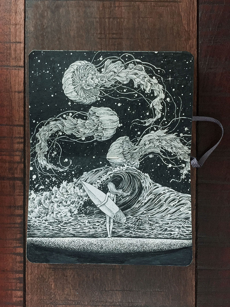 kerby rosanes sketchbook illustrations 17 Kerby Rosanes Sketchbooks are Beautiful Works of Art Unto Themselves
