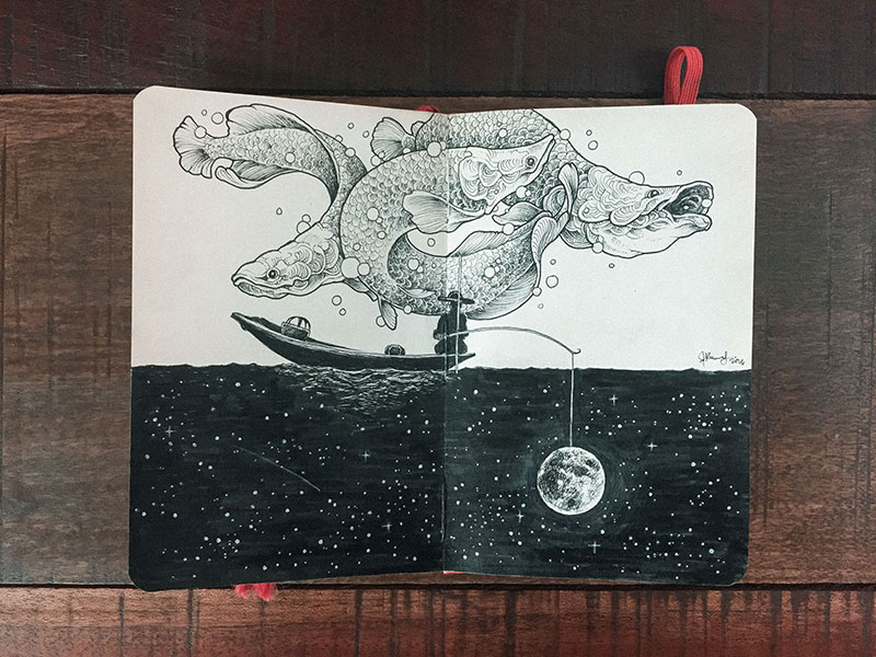 kerby rosanes sketchbook illustrations 18 Kerby Rosanes Sketchbooks are Beautiful Works of Art Unto Themselves
