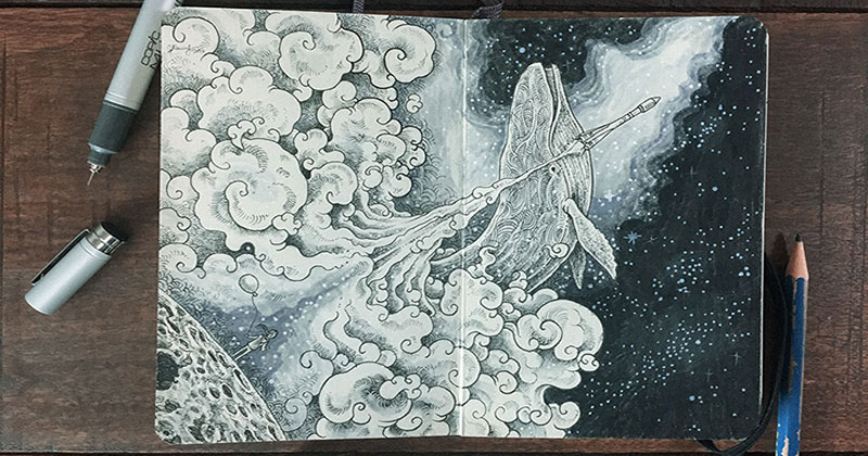 Kerby Rosanes' Sketchbooks are Beautiful Works of Art Unto Themselves