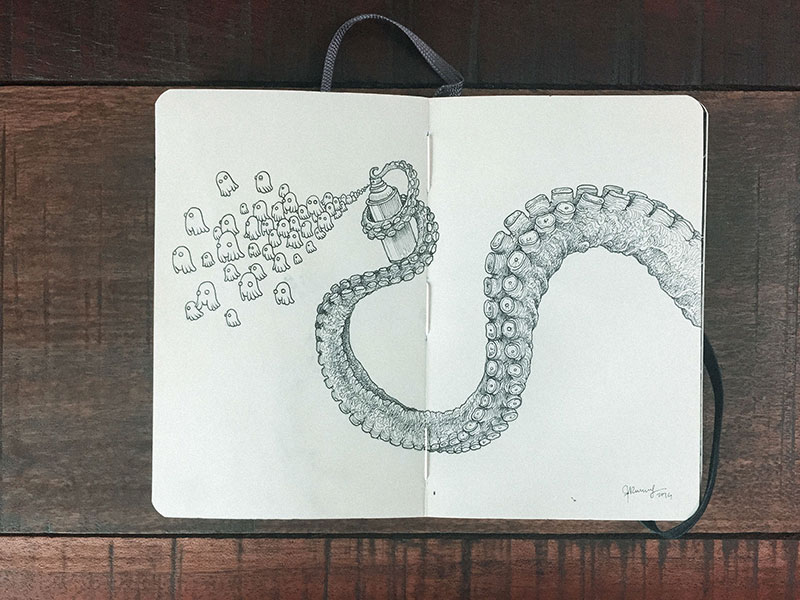 kerby rosanes sketchbook illustrations 9 Kerby Rosanes Sketchbooks are Beautiful Works of Art Unto Themselves