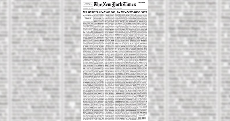 This Was the Front Page of the Sunday Edition of the New York Times