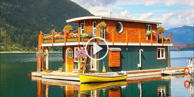This Craftsman Built His Own Off-Grid Houseboat and It's Beautiful