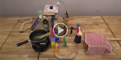 This Social Distancing Rube Goldberg Machine for Passing  the Pepper is Amazing