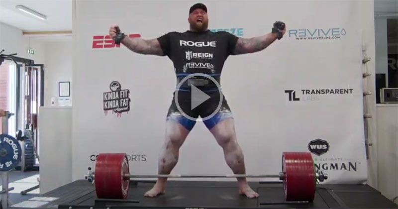The Mountain from Game of Thrones Just Set the New Deadlift World Record