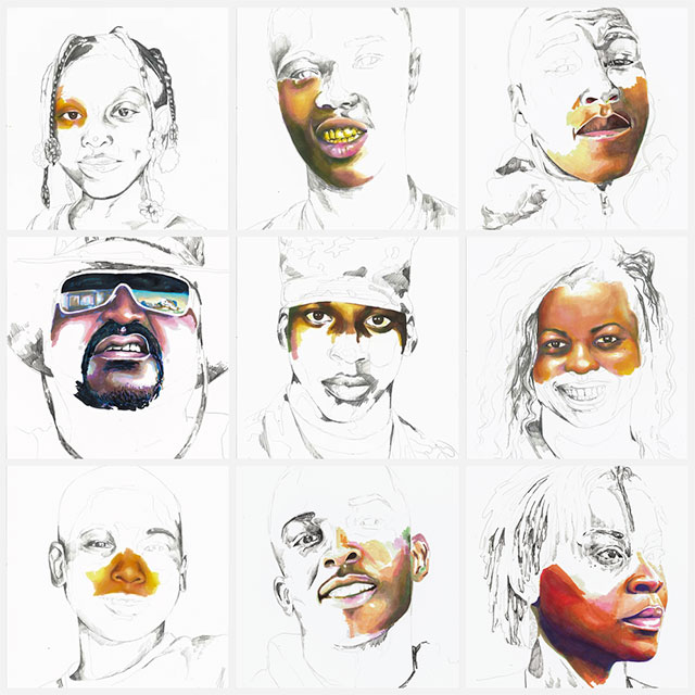 stolen portraits by adrian brandon 10 Artist Channels Grief Into Unfinished Portraits Where 1 Year of Life = 1 Minute of Color