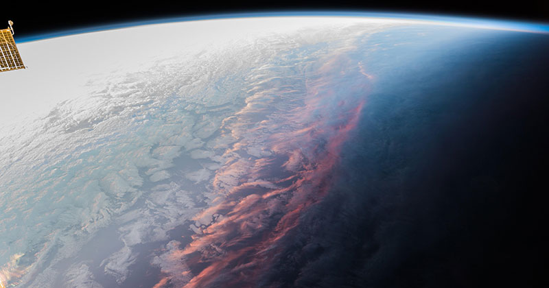 This is What a Sunset on Earth Looks Like From Space