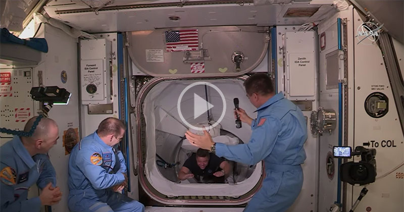 The Historic Moment Astronauts Bob Behnken and Doug Hurley Arrived on the ISS