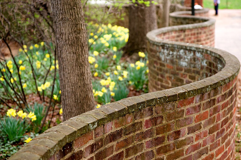 wavy crinkle crankle walls use less brick than straight walls 9 Popularized in England, These Wavy Walls Actually Use Fewer Bricks Than a Straight Wall