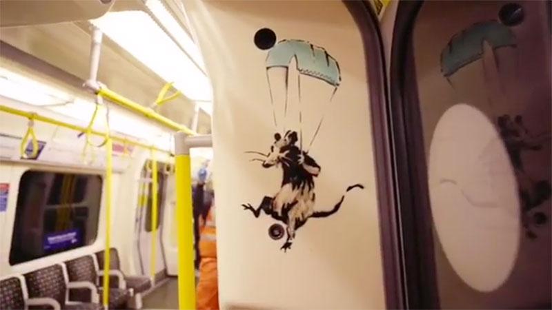 banksy strikes london tube july 2020 3 I get lockdown. But I get up again   Banksy Strikes London Tube with Mask Message