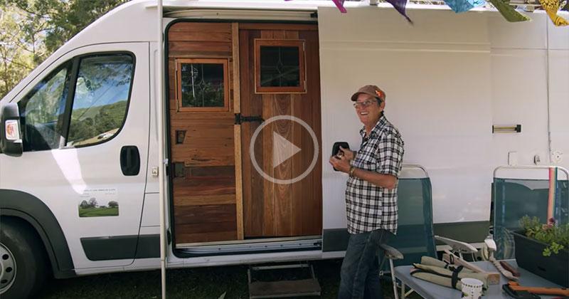 Clare's Camper Van Home is the Coziest One I've Seen