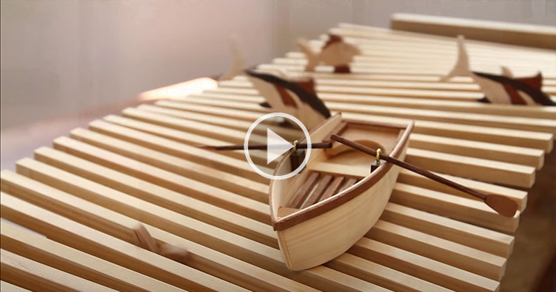 This Wooden Kinetic Wave Sculpture is Soothing to Watch