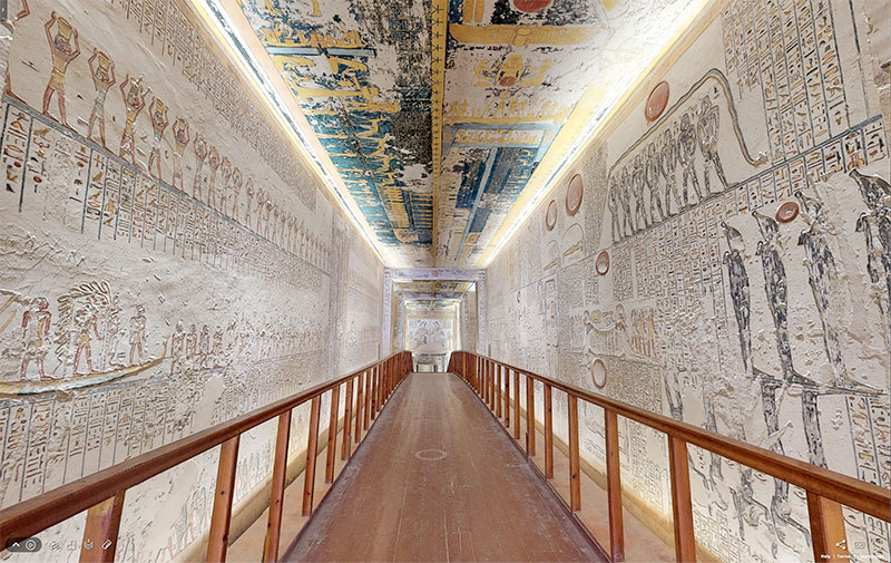 pharaoh ramesses vi tomb virtual tour egypt valley of kings 4 You Know those Virtual House Tours? Heres One for the Tomb of Ramesses VI in the Valley of Kings
