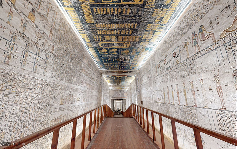 pharaoh ramesses vi tomb virtual tour egypt valley of kings 6 You Know those Virtual House Tours? Heres One for the Tomb of Ramesses VI in the Valley of Kings