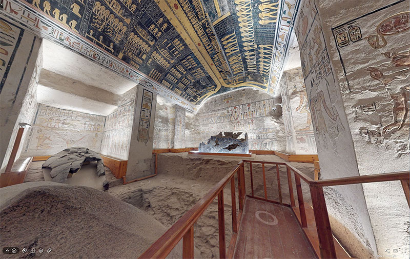 pharaoh ramesses vi tomb virtual tour egypt valley of kings 8 You Know those Virtual House Tours? Heres One for the Tomb of Ramesses VI in the Valley of Kings