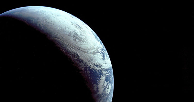Just a Beautiful Photo of Earth Taken in 1967 from 18,000 km Away