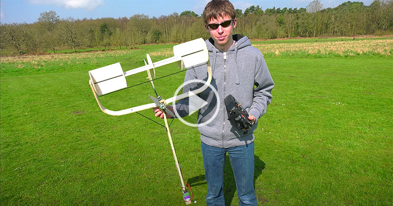 This 'Magnus Effect' RC Plane Looks Like a Push Reel Mower and Yes, It Flies