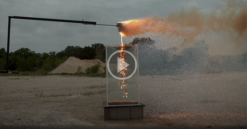 Dropping Molten Thermite Into Water in Super Slow Motion 4K