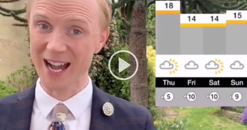 BBC Weatherman Working from Home, Plays Himself Off-Air with Epic Drum Solo