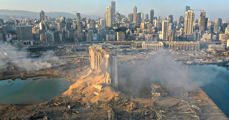 beirut explosoin aerial 2020 The Terrifying Beirut Explosion as Captured and Experienced by People Across the City