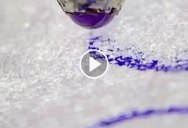 This Macro Footage of a Ballpoint Pen Writing on Paper is Surreal