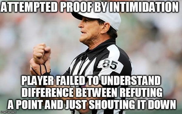 nfl ref meme arguing debate online internet fallacies 5 These NFL Ref Memes About Arguing on the Internet are Perfect