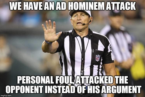 nfl ref meme arguing debate online internet fallacies 8 These NFL Ref Memes About Arguing on the Internet are Perfect