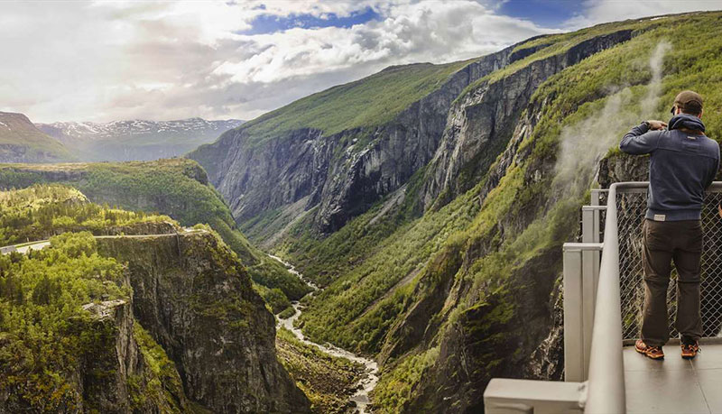 norway just built a 99 step bridge over their most iconic waterfall 1 Norway Just Built a 99 Step Bridge Over Their Most Iconic Waterfall
