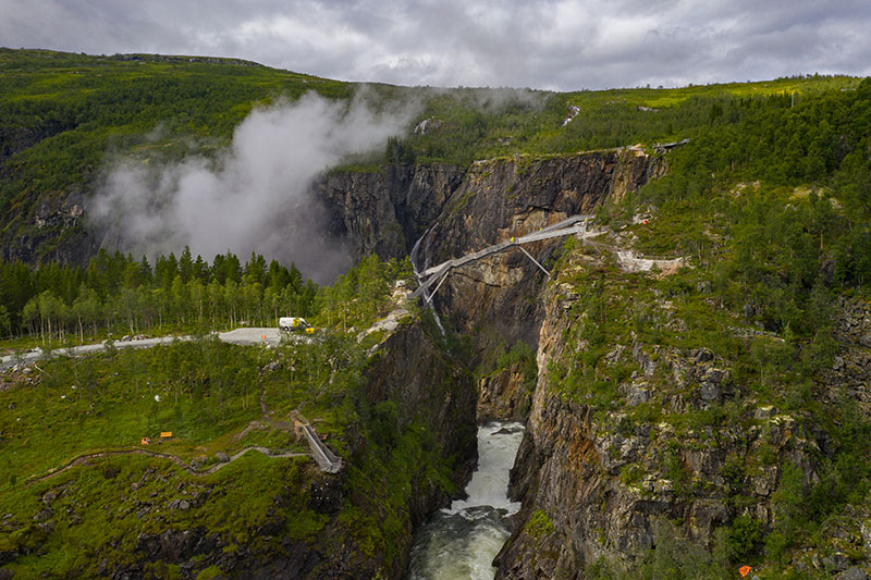 norway just built a 99 step bridge over their most iconic waterfall 5 Norway Just Built a 99 Step Bridge Over Their Most Iconic Waterfall