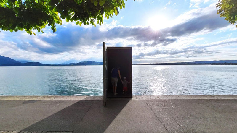 real life truman show door lake zug switzerland underwater observatory 1 The Real Life Truman Show Door in Lake Zug, Switzerland