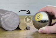Guy Makes 8 Ball Out of Steel and Brass, With No Added Music or Commentary