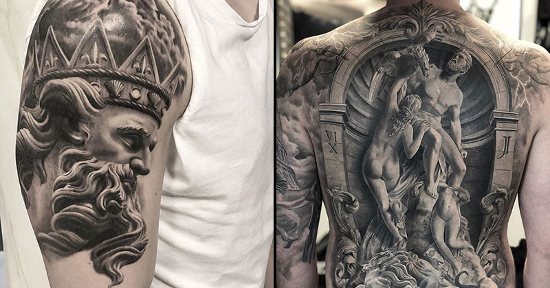 These Ancient Greek and Roman Art Tattoos are Amazing