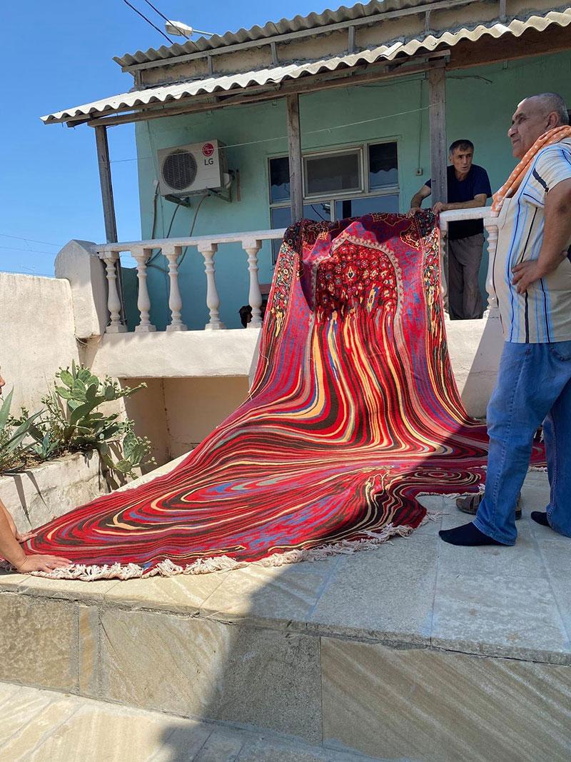 melting glitch rug by faig ahmed 4 1 This Melting Glitch Rug by Faig Ahmed is Incredible