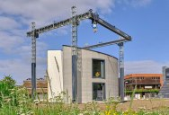 This 3D Concrete Printer Just Printed a Two Story House On-Site