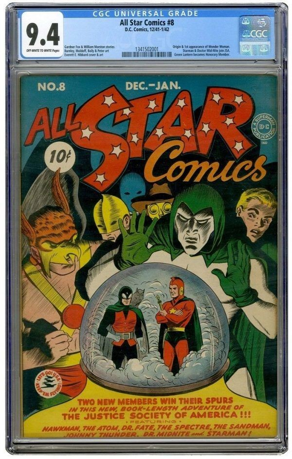 all star comics number 8 ebay first appearance of wonder woman most expensive comic sold The 25 Most Expensive Things Ever Sold on eBay