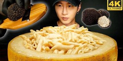 Gourmet Cheese Wheel Mac and Cheese But Make it ASMR