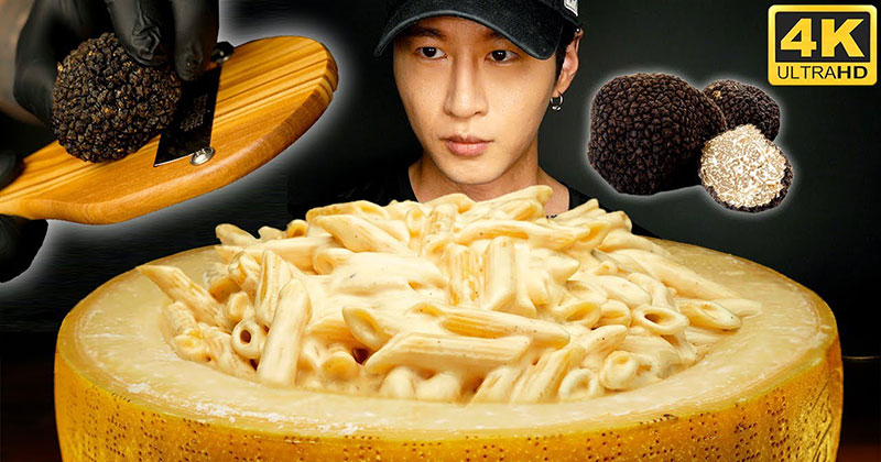 Gourmet Cheese Wheel Mac and Cheese But Make it ASMR