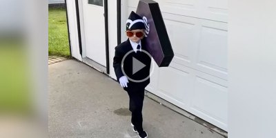 This Kid's Halloween Costume is Definitely Going to Be Hilarious to Some and Offensive to Others
