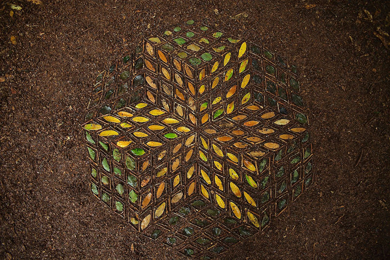 earth art by james brunt 2020 1 James Brunt Uses Fall Foliage to Create Temporary Works of Earth Art
