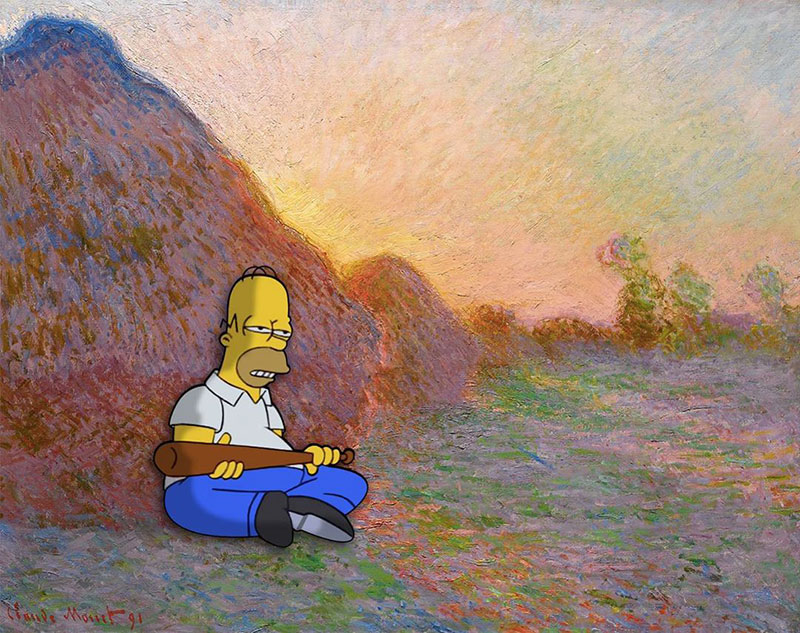 simpsons fine art photoshops 12 An Introduction to Fine Art Through Funny Simpsons Mashups