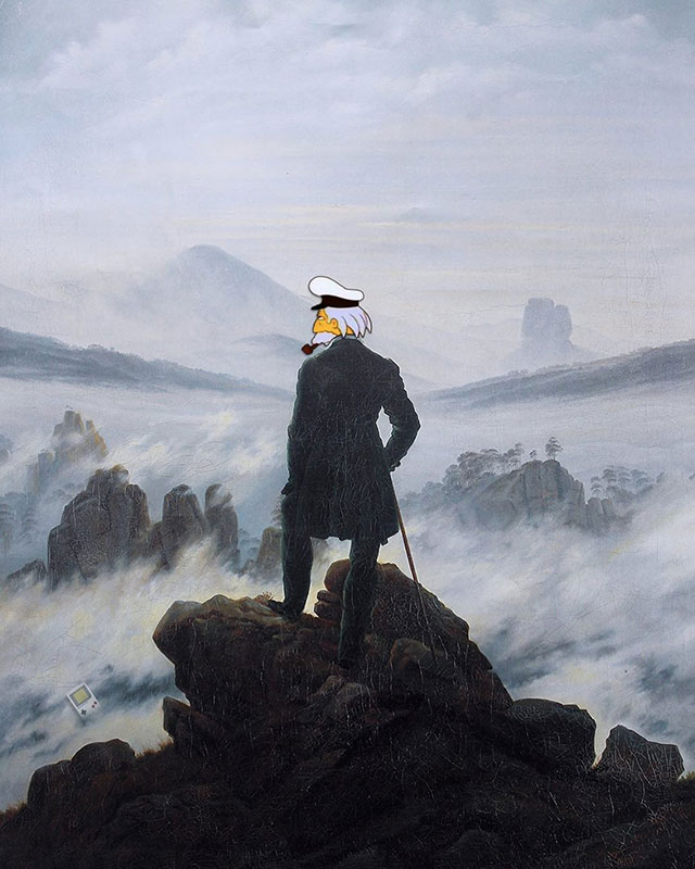 simpsons fine art photoshops 16 An Introduction to Fine Art Through Funny Simpsons Mashups