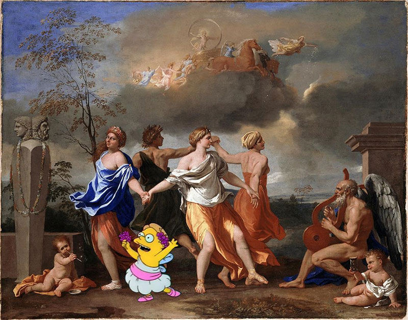 simpsons fine art photoshops 2 An Introduction to Fine Art Through Funny Simpsons Mashups