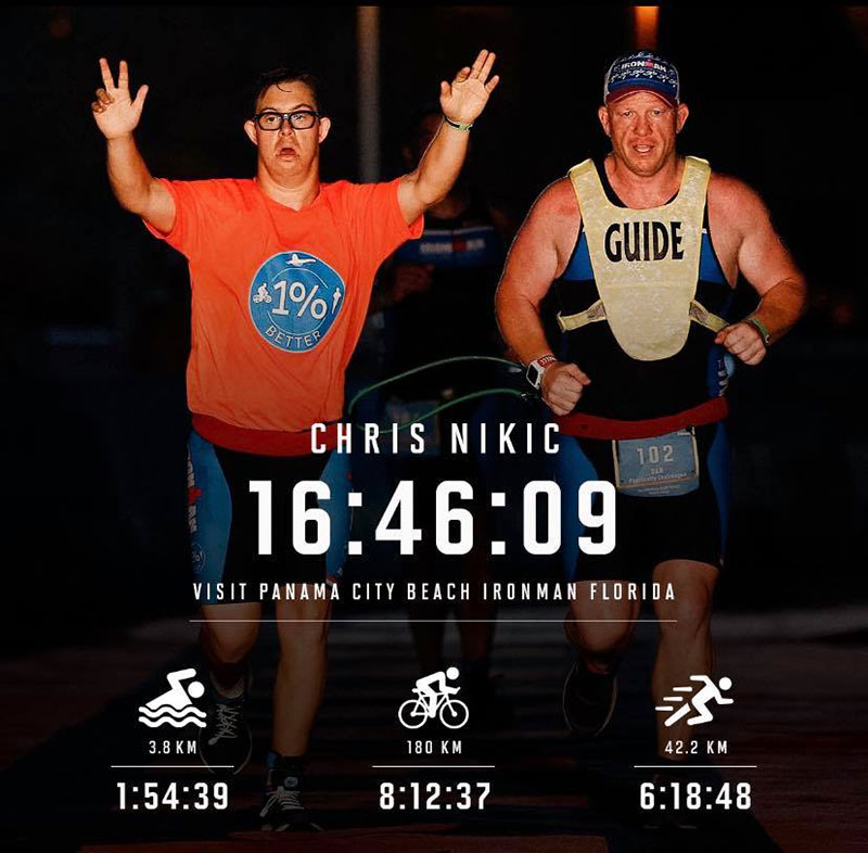 chris nikic first person with down syndrome to ever do an ironman 6 Chris Nikic is the First Person with Down Syndrome to Ever Complete a Full Ironman