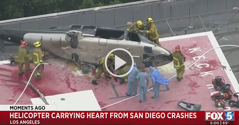 Helicopter with Donor Heart Crashes, Firefighters Recover It, Doctor Trips and Drops It; But It All Ends Well